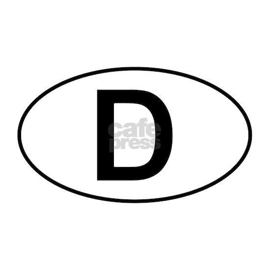 D - German Oval Sticker