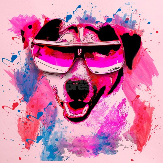 Jack Russell Cool Dog Watercolour