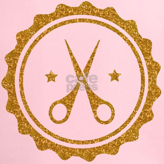 Gold Glitter Scissors Hairstylist logo