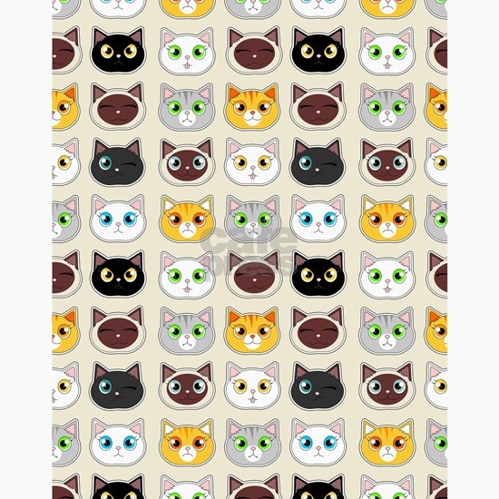 Cattitude - Cute Cat Expressions Pattern