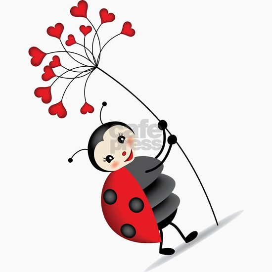 ladybug with heart tree