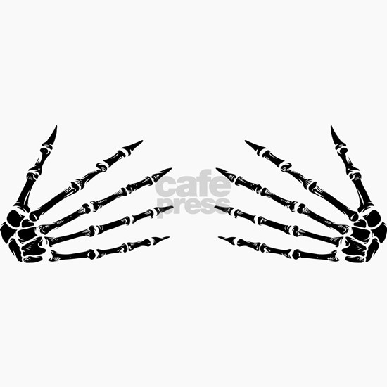 Skeleton Hands Funny Women Adult Halloween Group