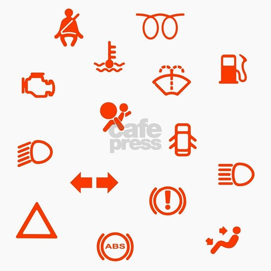 Vehicle Dash Warning Symbols