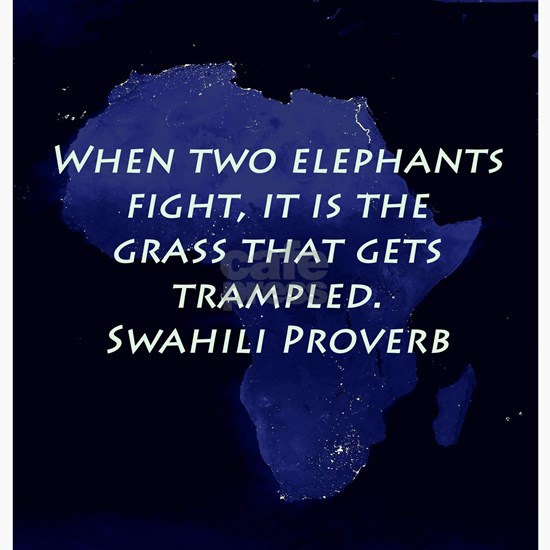 When Two Elephant Fight