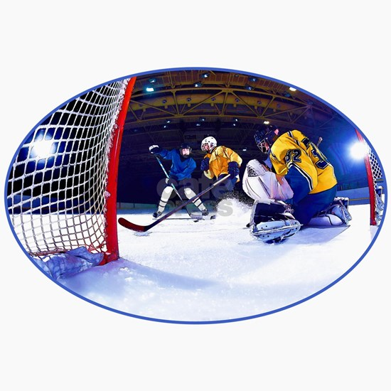 Ice Hockey Battle Through the Cage