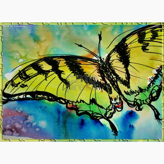 Butterfly! Swallowtail butterfly, art!