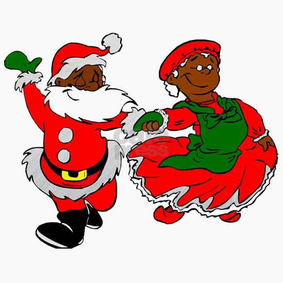 black santa mrs claus