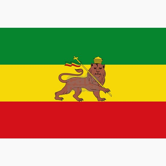 Ethiopia Flag Lion of  Judah Rasta Reggae