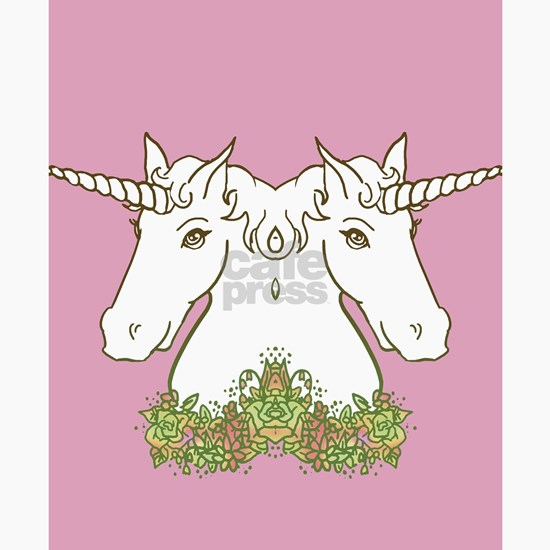 Unicorn With Flower Garland