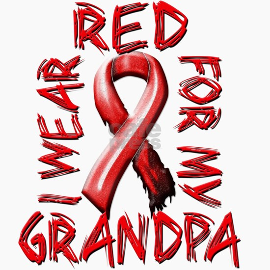I Wear Red for my Grandpa