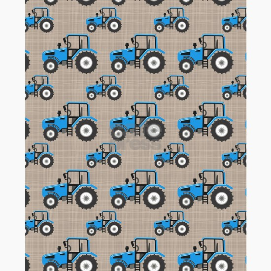 Blue Tractor Pattern