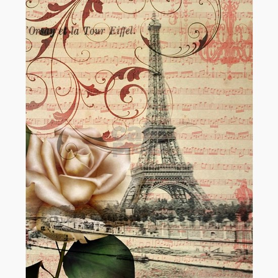 girly rose eiffel tower paris