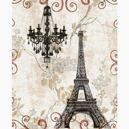 Vintage chandelier eiffel tower