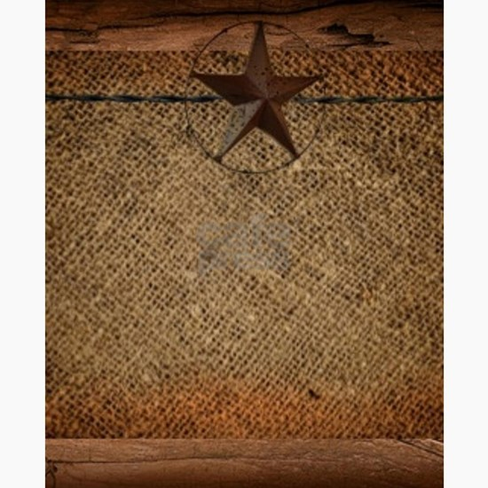 burlap barn wood texas star