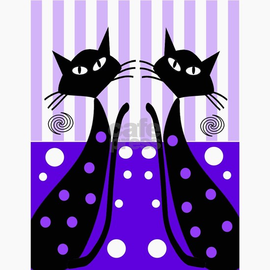 Eve black cat shoes purple