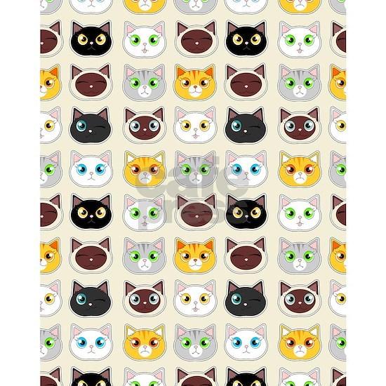 Cattitude - Cute Cat Expressions Pattern