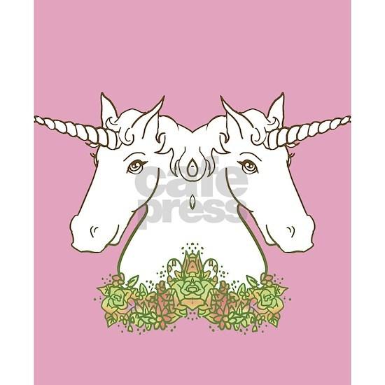 Unicorn With Flower Garland