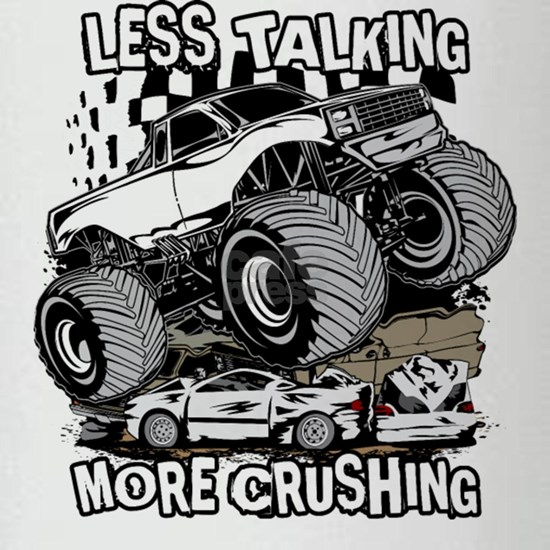Truck talking crushing racing man shirt