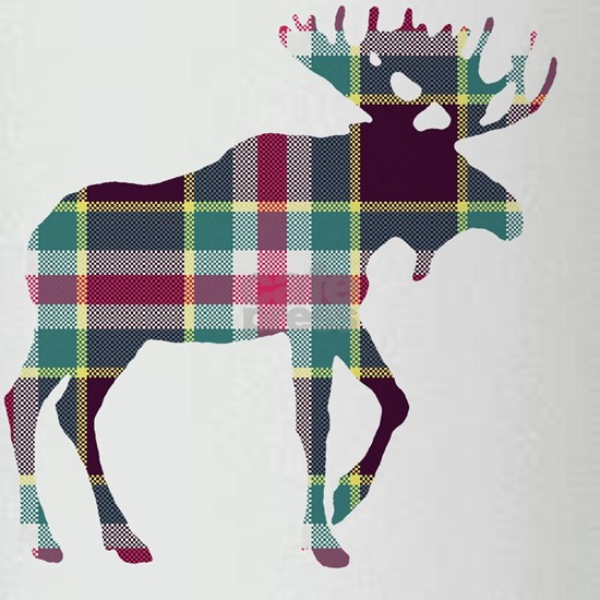 Plaid Moose 124 by Leslie Harlow