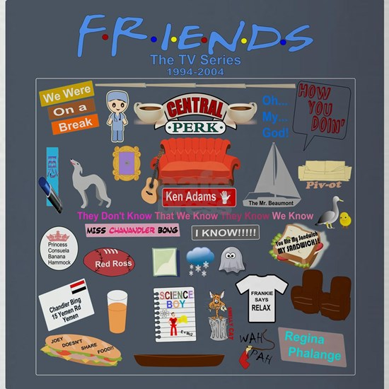 Friends TV Show Collage