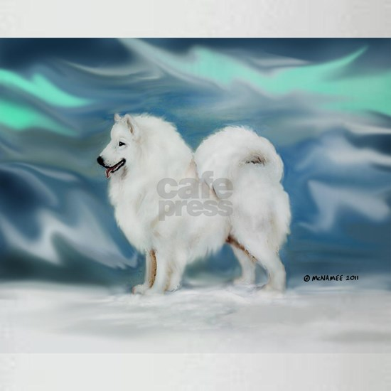 Samoyed  Northern Lights