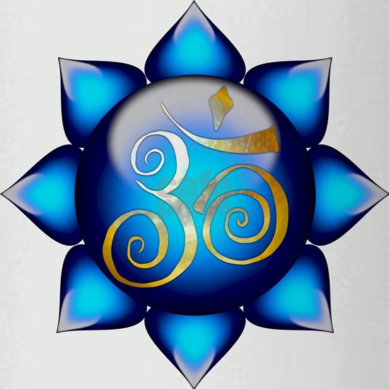 Aum Lotus in Blue