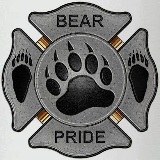 Bear Pride Firefighter Badge