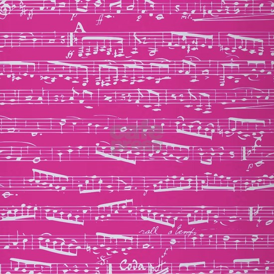 Hot pink music notes