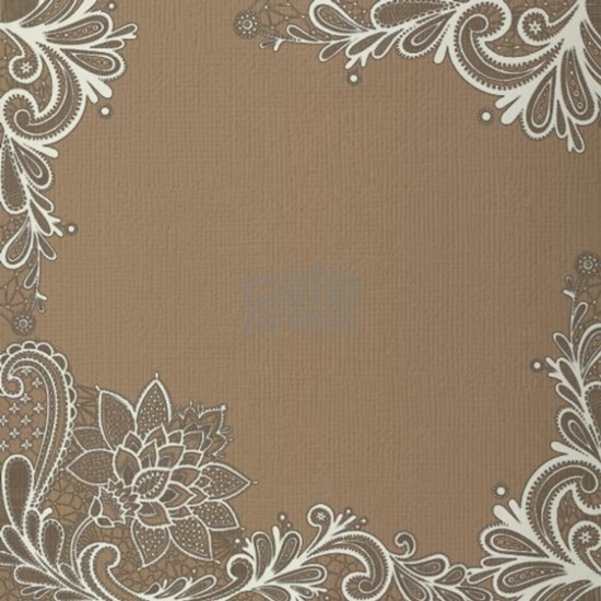 girly tan sand white lace