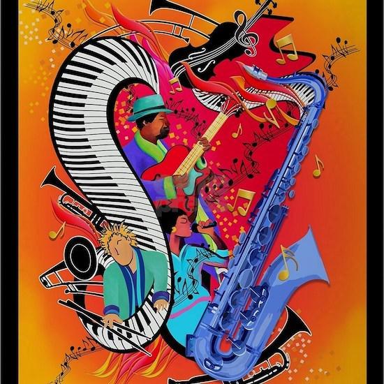 Music Art Piano Sax Musicians