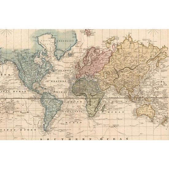 Vintage Map of The World (1823) 2