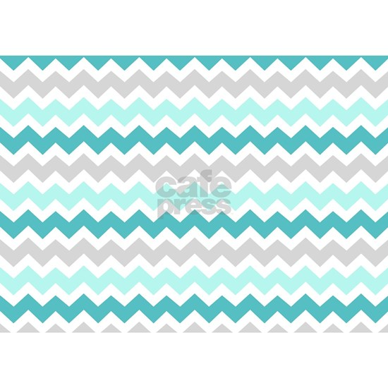 grey teal chevron