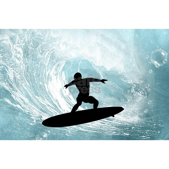 Sport, surfboarder with wave