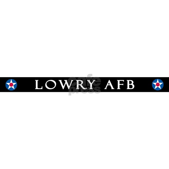 LOWRY AIR FORCE BASE TOP LICENSE PLATE