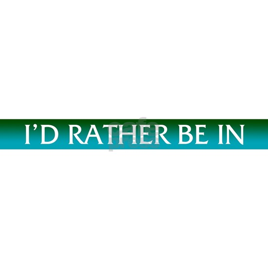 I D Rather Be In Calgary License Plate Frame By Jennshvili