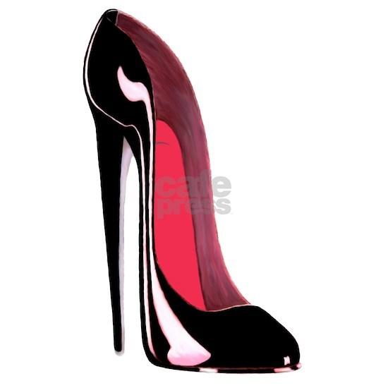 Black Stiletto Shoe Art