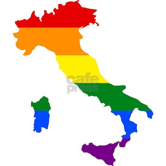 Gay Pride Flag Italy