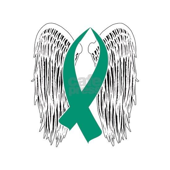 Winged Awareness Ribbon (Teal)