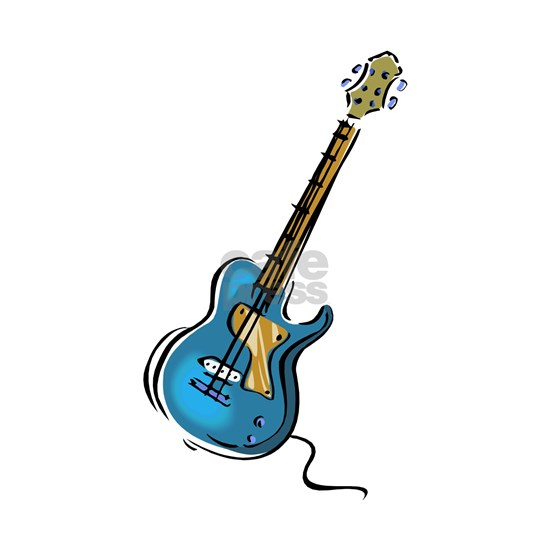 Guitar blue yellow shaded graphic