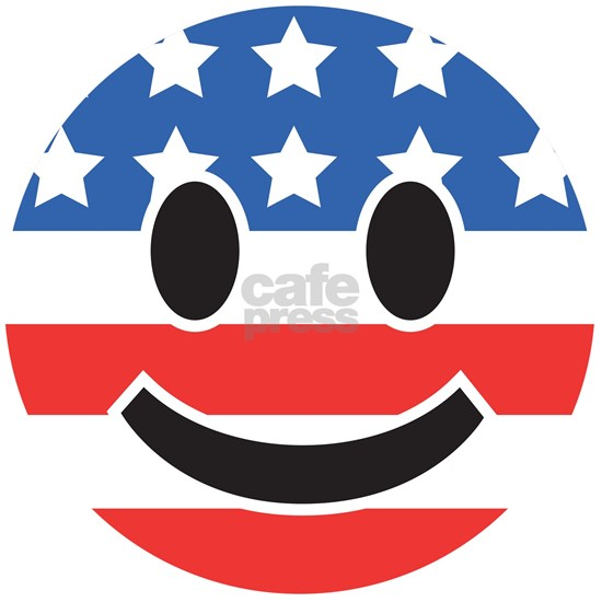 4th Of July Smiley Flag