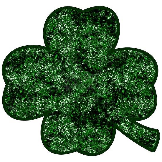 Forest Green Glitter Shamrock
