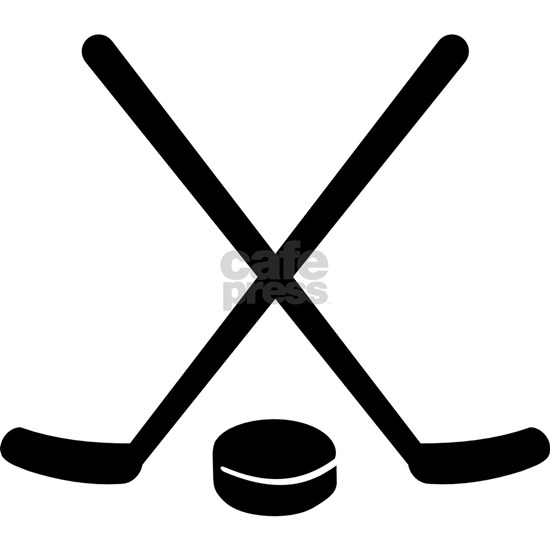Hockey sticks puck