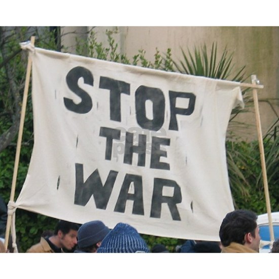 stop the war protest
