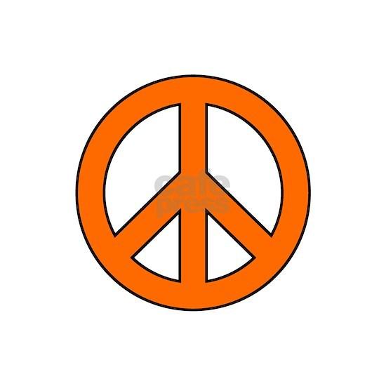 Orange Peace Sign