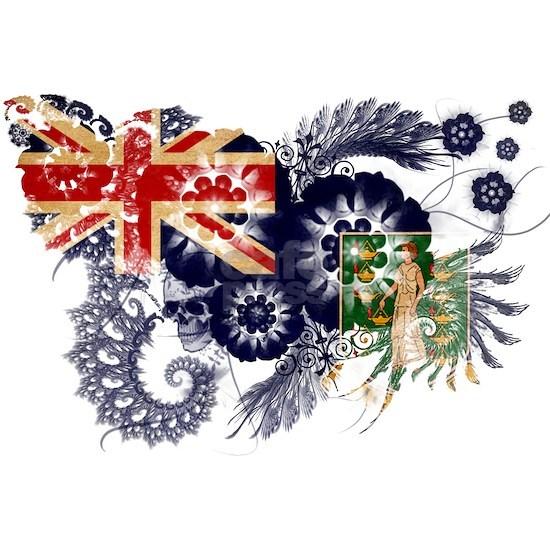 British Virgin Islands textured flower