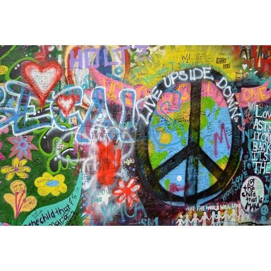Love & Peace on the Lennon Wall