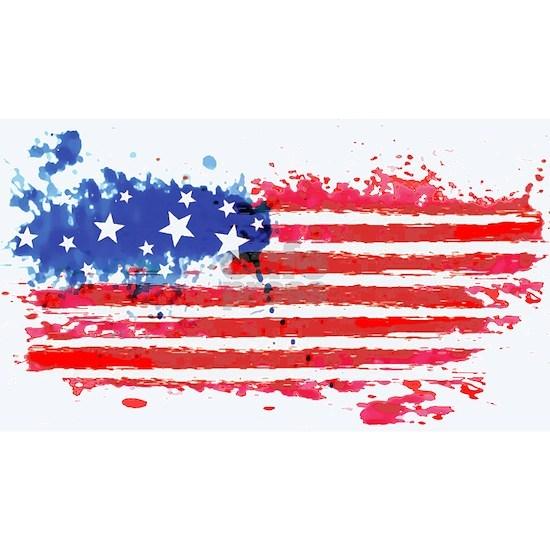 watercolor grunge American Flag