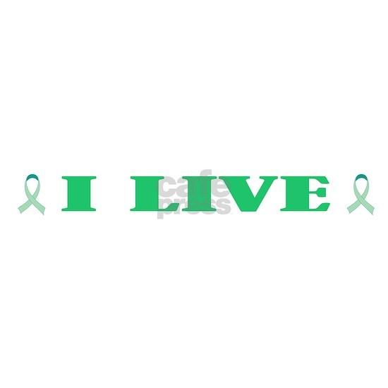 Top I Live green ribbon