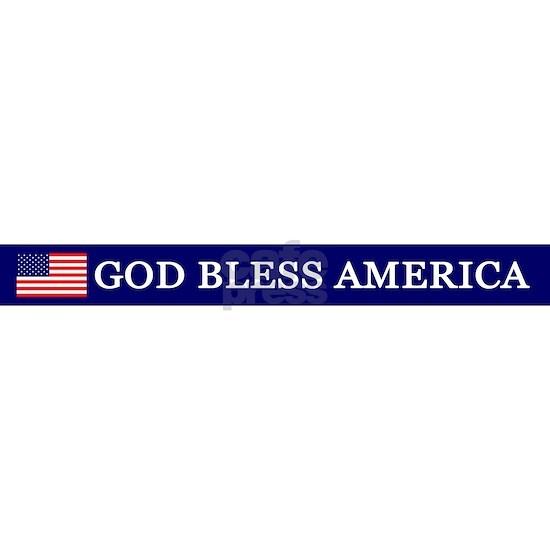 God Bless America 2 License Plate Frame