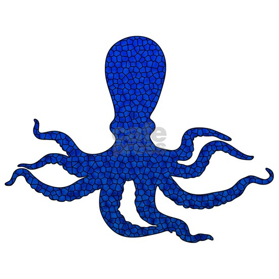 Blue Octopus Mosaic